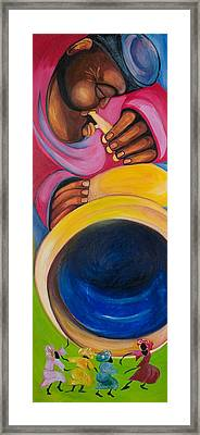 Dance To My Tune Framed Print by Chibuzor Ejims