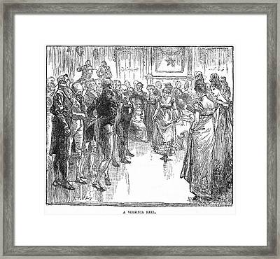 Dance: Virginia Reel C1800 Framed Print
