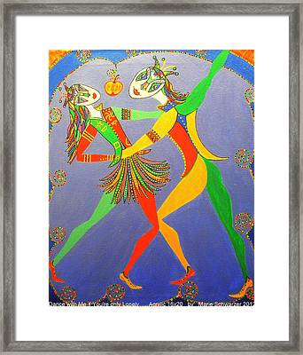 Framed Print featuring the painting Dance With Me If You Are Only Lonely by Marie Schwarzer