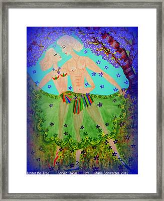 Framed Print featuring the painting Dance With Me by Marie Schwarzer
