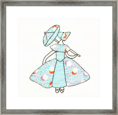 Dancer And Parasol 1 Framed Print