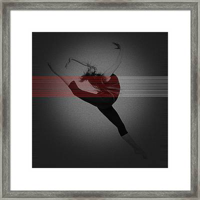 Dancer Framed Print by Naxart Studio