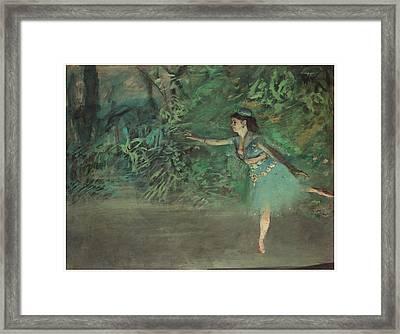 Dancer On The Stage Framed Print by Edgar Degas