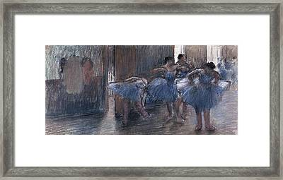 Dancers Framed Print by Edgar Degas