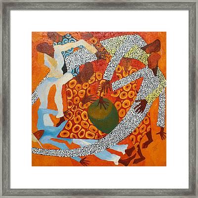 Dancers IIi Framed Print by Anina von Wachtel Diani Beach Art Gallery