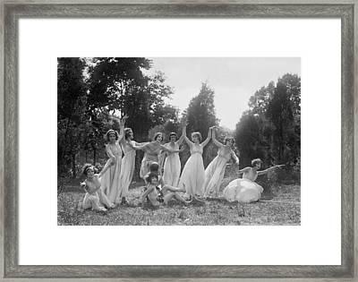 Dancers Of The National American Ballet Framed Print by Everett