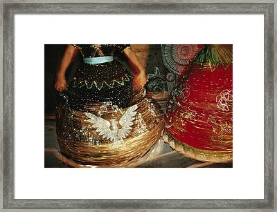 Dancers Whirl In Sequined Dresses Framed Print