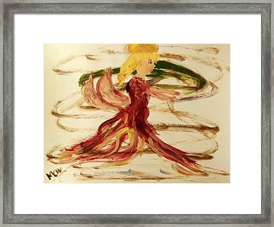 Dancing Angel Framed Print by Mary Carol Williams