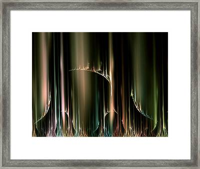 Dancing Auroras Curtains In The Sky Framed Print