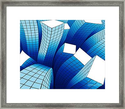Dancing Buildings Framed Print