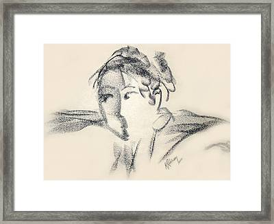 Dancing Face Framed Print by Karen A Robinson