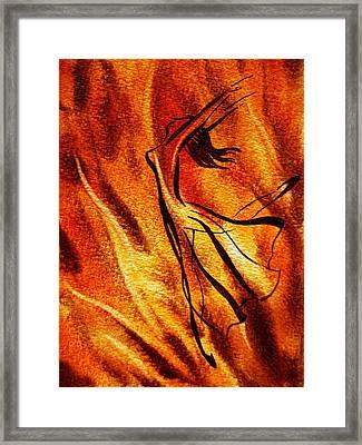 Dancing Fire Vi Framed Print