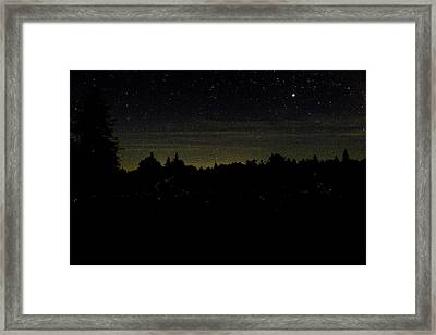 Framed Print featuring the photograph Dancing Fireflies by Brent L Ander