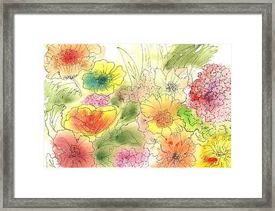 Dancing Flowers Framed Print by Christine Crawford
