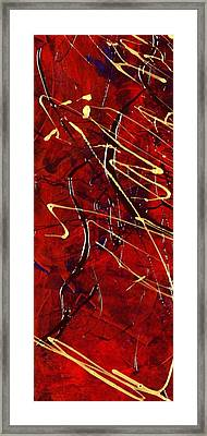 Framed Print featuring the painting Dancing Gold by Carolyn Repka