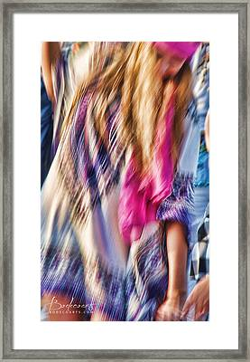 Dancing Hippie Framed Print