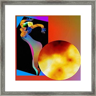 Framed Print featuring the digital art Dancing In Circle by Asok Mukhopadhyay