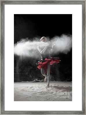 Dancing In Flour Series Framed Print by Cindy Singleton