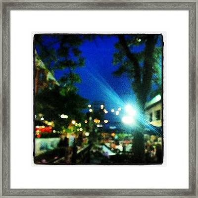 Dancing In The Moonlight #federallhill Framed Print