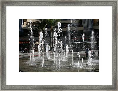 Dancing In The Plaza Framed Print