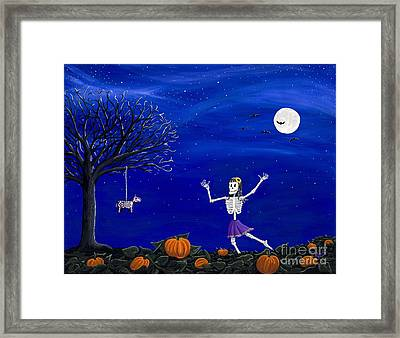Dancing In The Pumpkin Patch  Framed Print