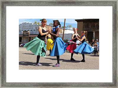 Dancing In The Streets Framed Print by Feva  Fotos
