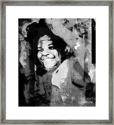Dancing Invisible Framed Print by Fania Simon