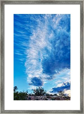 Dancing Light And Clouds 2 Framed Print by Scotts Scapes