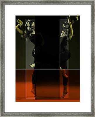 Dancing Mirrors Framed Print by Naxart Studio