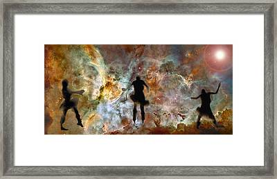 Dancing Nebula Framed Print