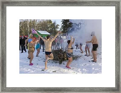 Dancing On The Snow Framed Print by Aleksandr Volkov