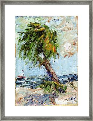 Framed Print featuring the painting Dancing Palm by Doris Blessington