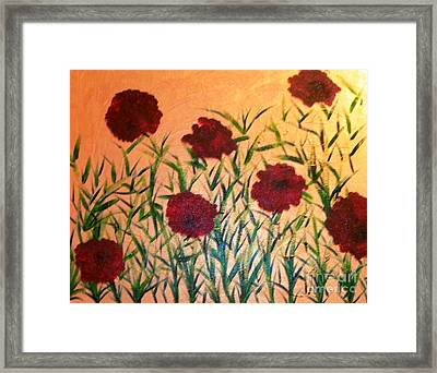 Dancing Poppies Framed Print