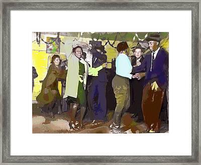 Dancing To Jazz Framed Print