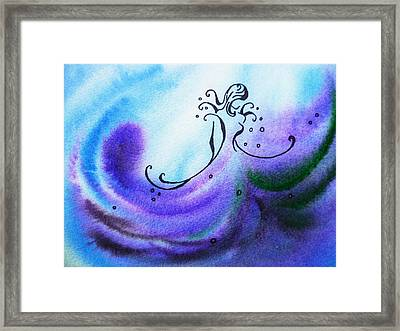 Dancing Water II Framed Print