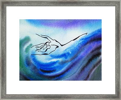 Dancing Water IIi Framed Print