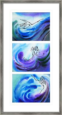 Dancing Water V Framed Print by Irina Sztukowski