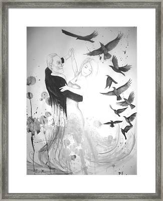 Dancing With Death Framed Print by Cian Hogan