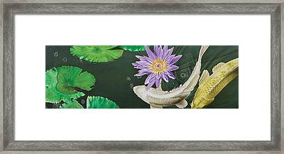 Framed Print featuring the painting Dancing With Lilly by Dan Menta