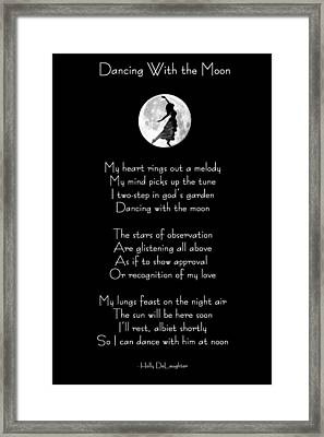 Framed Print featuring the digital art Dancing With The Moon by Holly Ethan