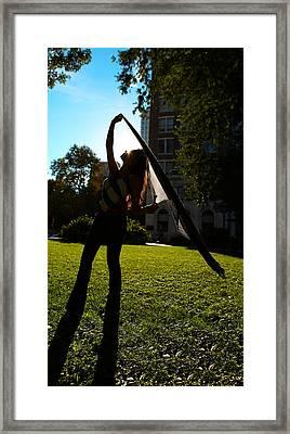 Dancing With The Sunset - Philadelphia - Pensilvania - Sunset Framed Print by Lee Dos Santos
