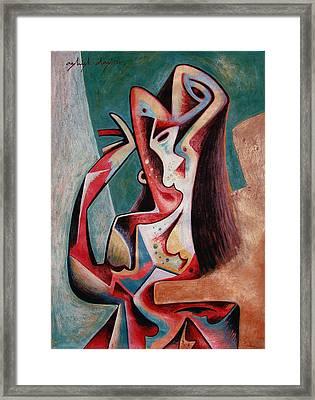 Dancing Woman Framed Print by Ashish Das