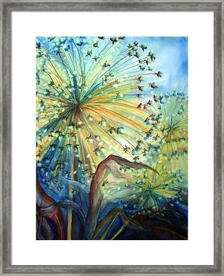 Dandelion Lights Framed Print