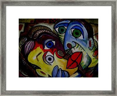 Danger On Her Lips  Framed Print by Brent Eric Allison