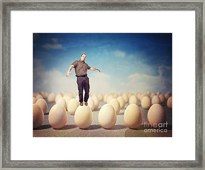 Danger Situation Framed Print by Gualtiero Boffi