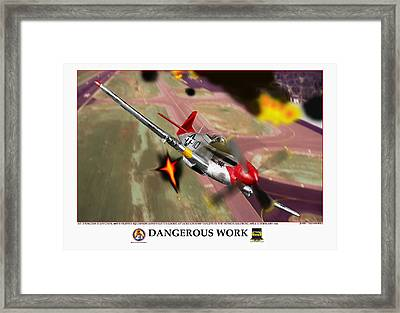 Dangerous Work Framed Print by Jerry Taliaferro