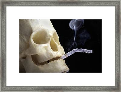Dangers Of Smoking, Conceptual Image Framed Print by Victor De Schwanberg