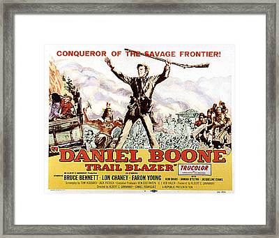 Daniel Boone, Trail Blazer, Bruce Framed Print