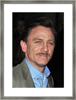 Daniel Craig At Arrivals For Worldwide Framed Print by Everett