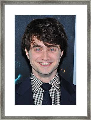 Daniel Radcliffe At Arrivals For Harry Framed Print by Everett